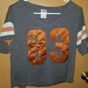 Victoria's secret PINK texas longhorns jersey (sm)